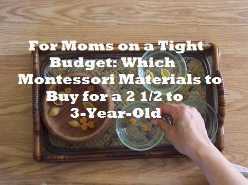For Moms on a Tight Budget: Which Montessori Materials to Buy for a 2 1/5 to 3-Year-Old