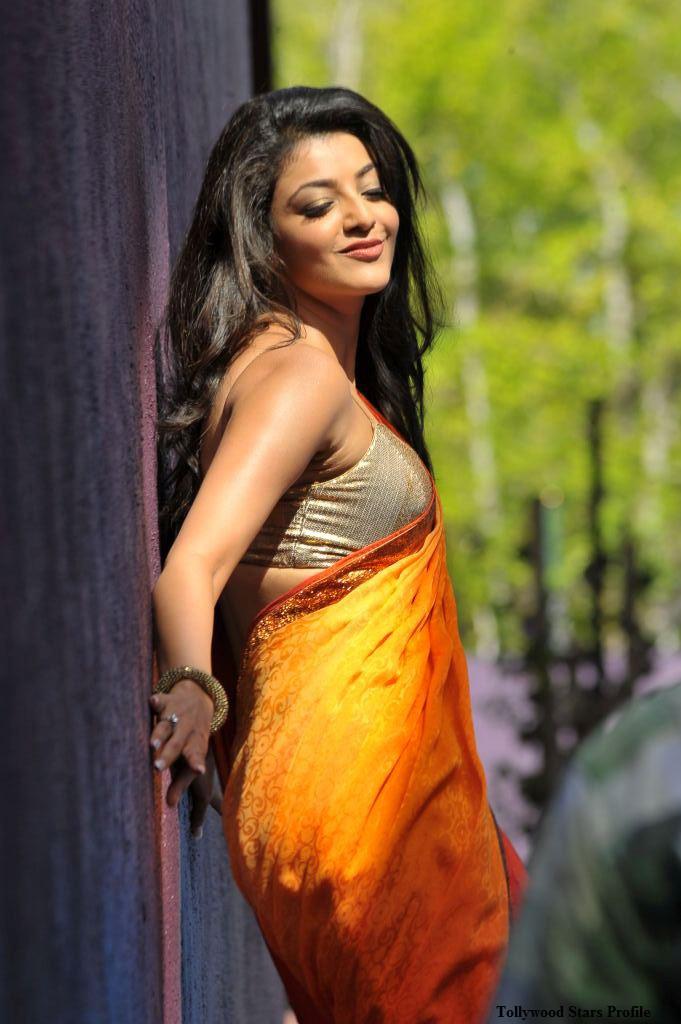 Kajal Agarwal Hot Saree Stills From Businessman Movie ...