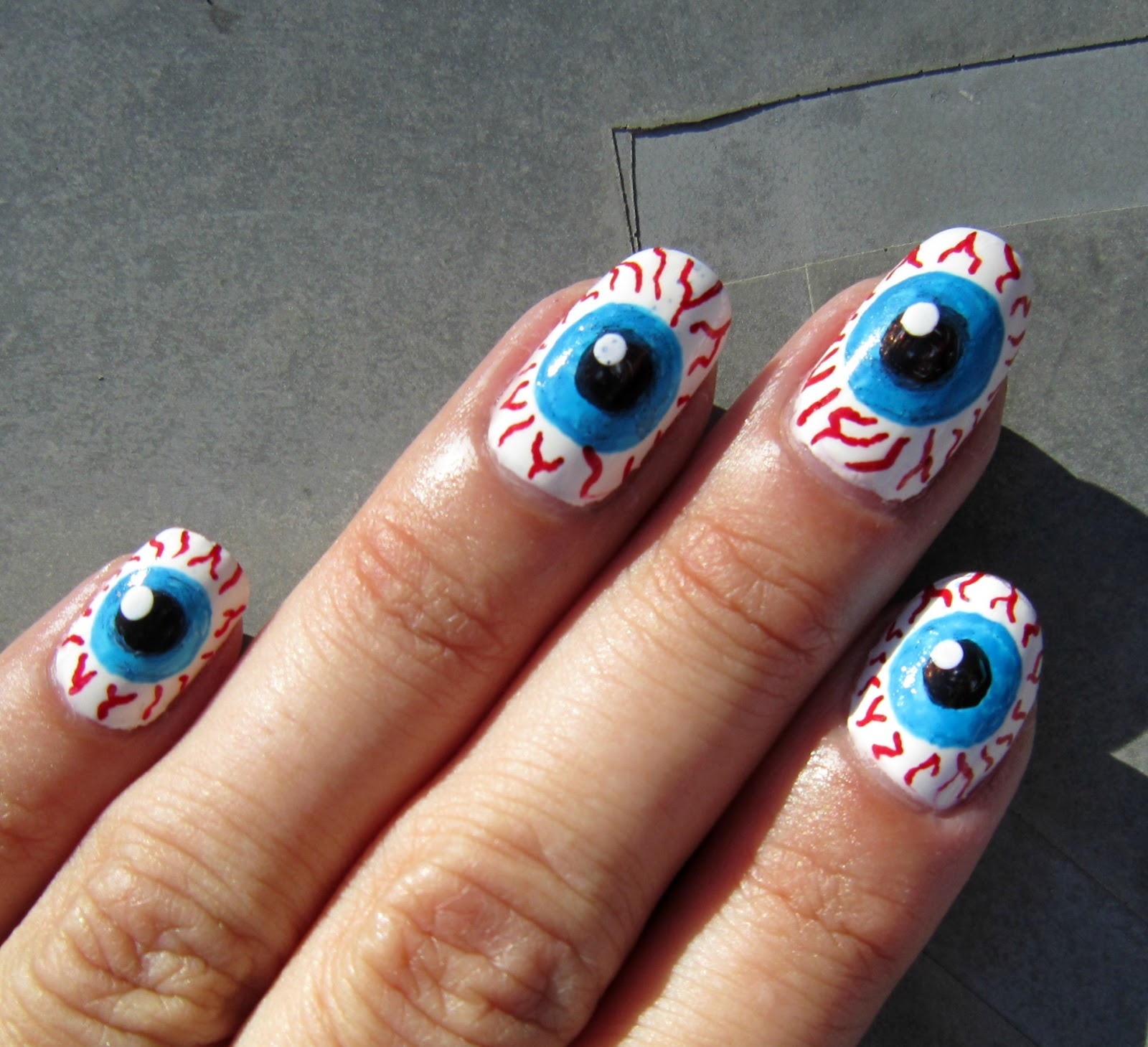 Concrete and Nail Polish: Eyeball Nails!!