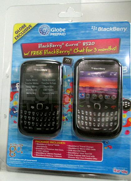 globe prepaid blackberry curve 8520
