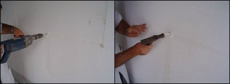 Furação-e-colocação-do-prego-de-plástico-pintar-a-casa