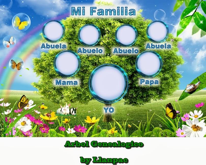 Recursos Photoshop Llanpac: Plantilla Arbol Genealogico para ...