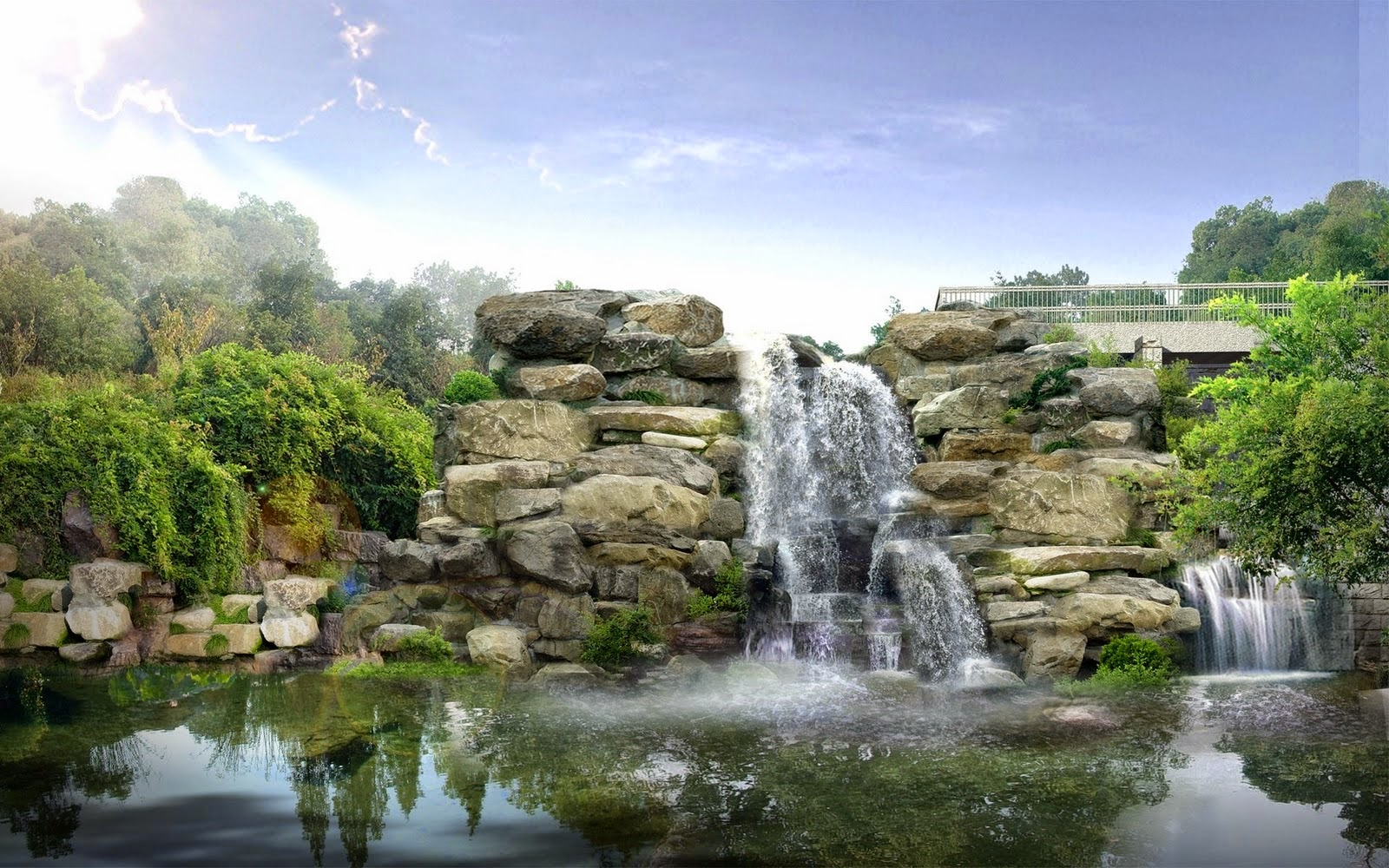 Waterfall Landscape High Resolution Pictures