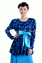NBB0030 POLKADOT PEPLUM BLOUSE