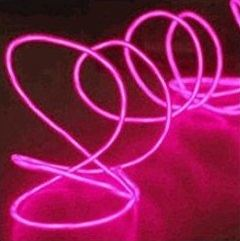 el wire red pink light up wire