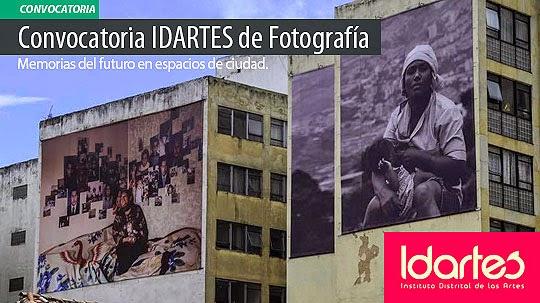 Convocatoria IDARTES de Fotografía. Memorias del futuro en espacios de ciudad.