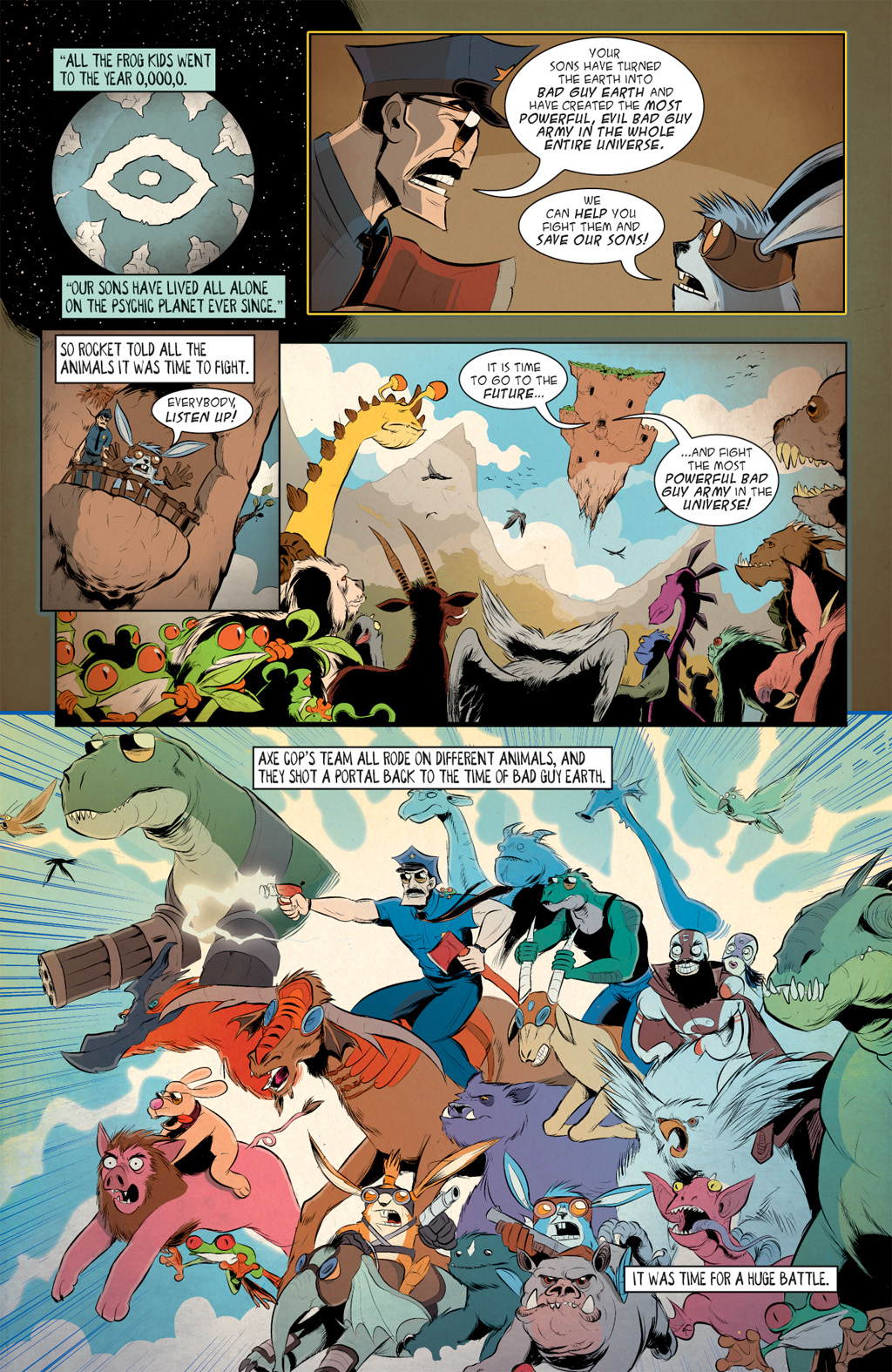Read online Axe Cop: Bad Guy Earth comic -  Issue #3 - 5