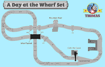 Thomas and friends Wooden Railway a Day at the Wharf set two stage layout design of the rail tracks