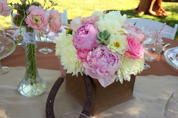 western girly centerpiece