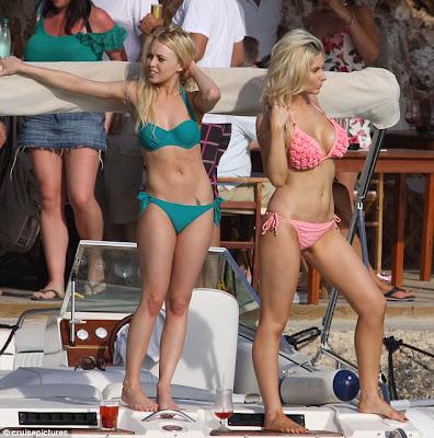 Gemma Merna and Jorgie Porter show off their sexy body curves