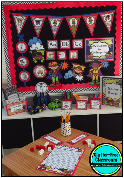 Classroom Ideas Superheroes ~ Superhero themed classroom ideas photos tips