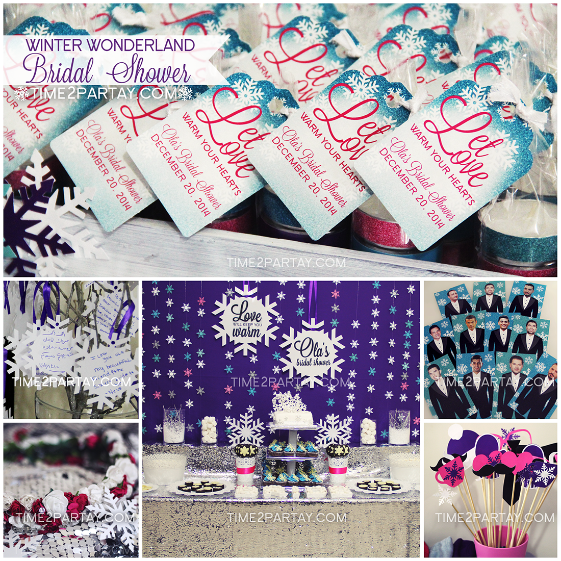 a winter wonderland bridal shower