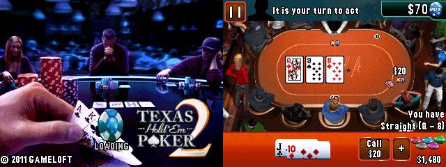 320x240 Java Game: Texas Holdem Poker 2