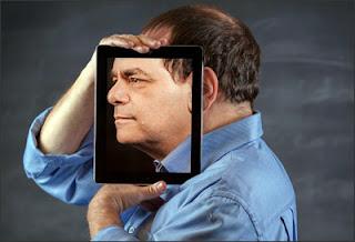 Marc Prensky with iPad Face