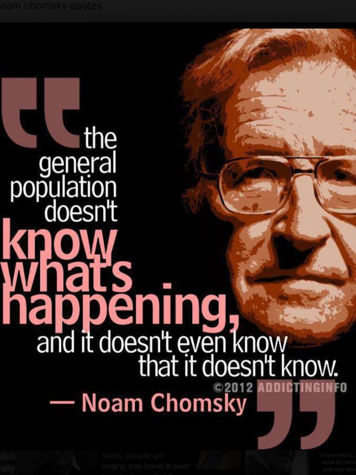 Noam Chomsky Knows!