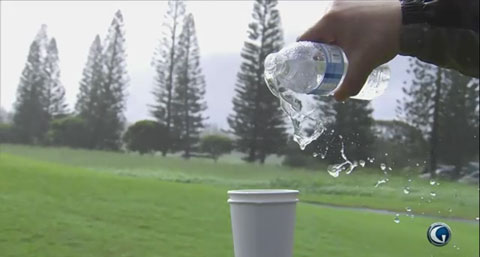 Water defies gravity in Hawaii