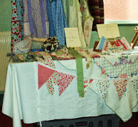 Craft table and items for sale at the coffee morning