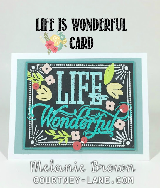Life is Wonderful card