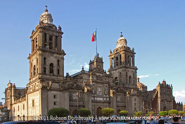 catedral no zocalo da cidade do mexico