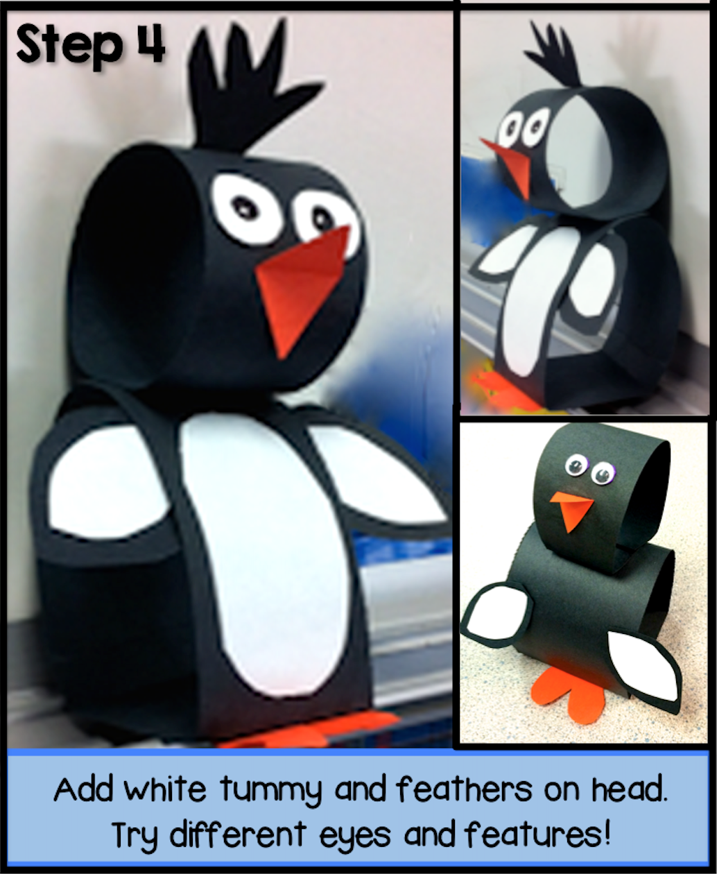 Pop-Up Penguins art project directions