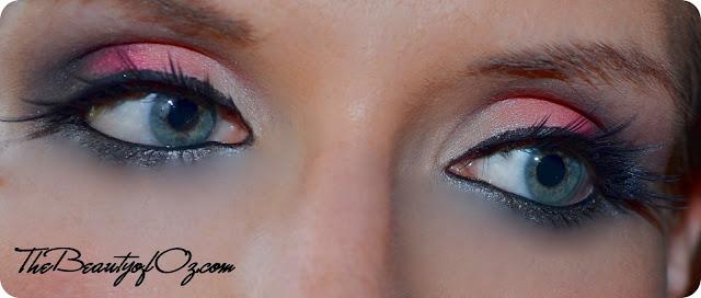Tropical Augenmake up mit kräftigem Pink