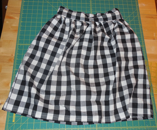 gathered high waisted skirt with zipper- success
