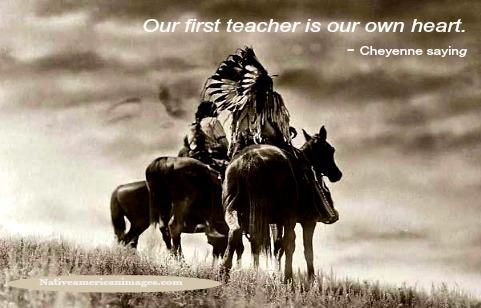 Cheyenne indians on horseback