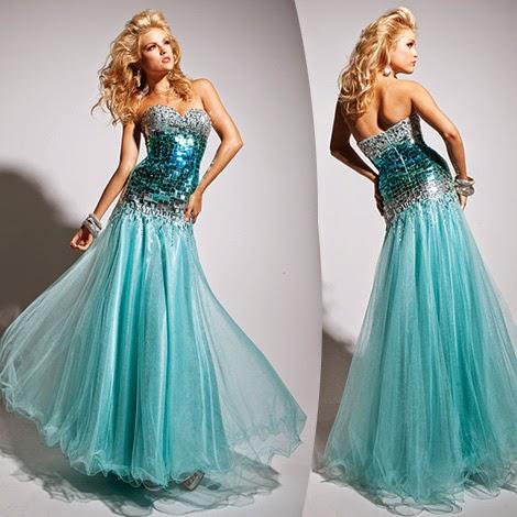 modelo de vestido mullet sereia com paete azul