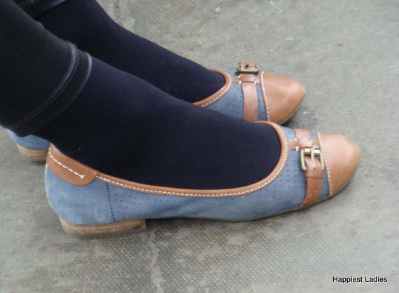 denim flats footwear