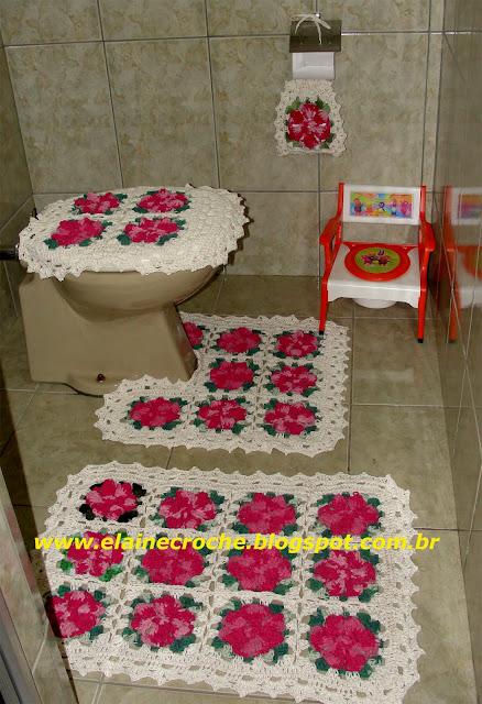 Jogo De Banheiro Completo : Elaine croche v?deo aula croch? jogo de banheiro