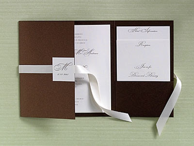 Pocket Fold Invitations Card