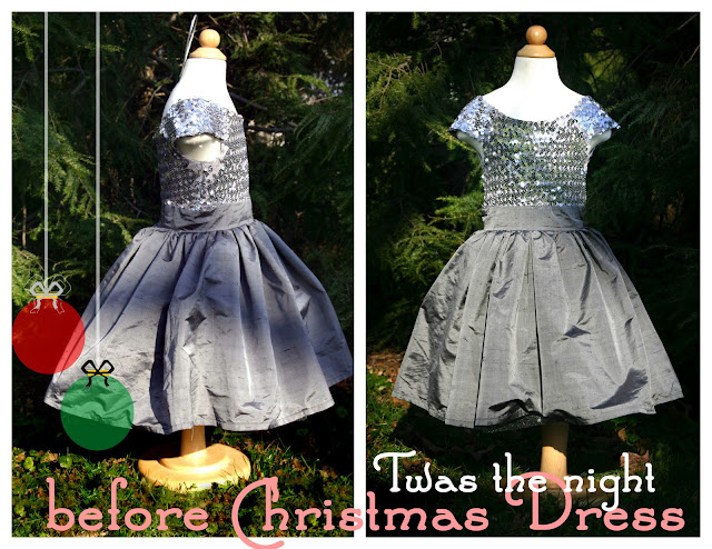 Grosgrain twas the night before christmas dress pattern