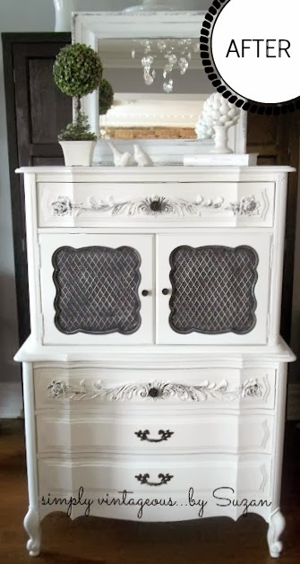 shabby chic dresser with Annie Sloan Pure White
