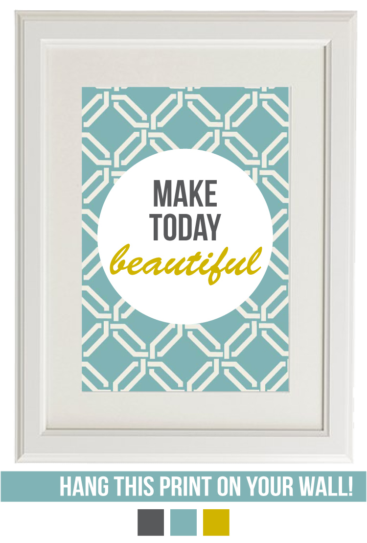 make today beautiful