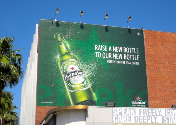 Raise new bottle Heineken Star billboard