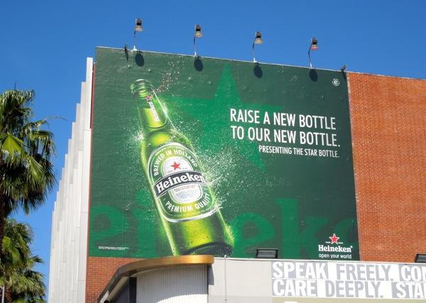 Raise new bottle Heineken Star billboard