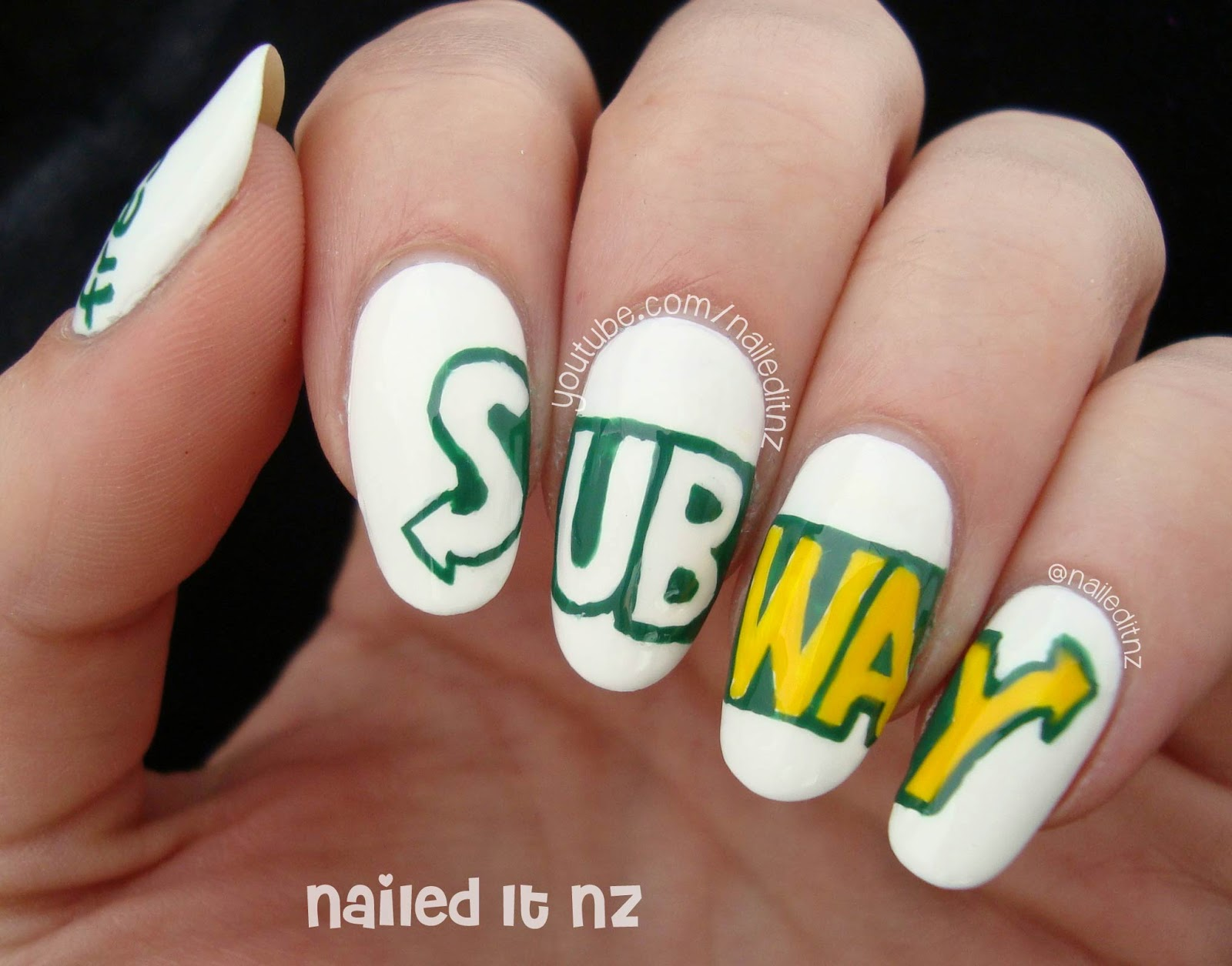 Subway nail art tutorial prinsesfo Images