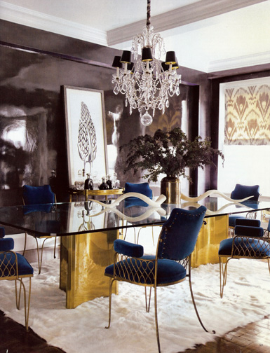 Khloe Kardashian Dining Room Texture