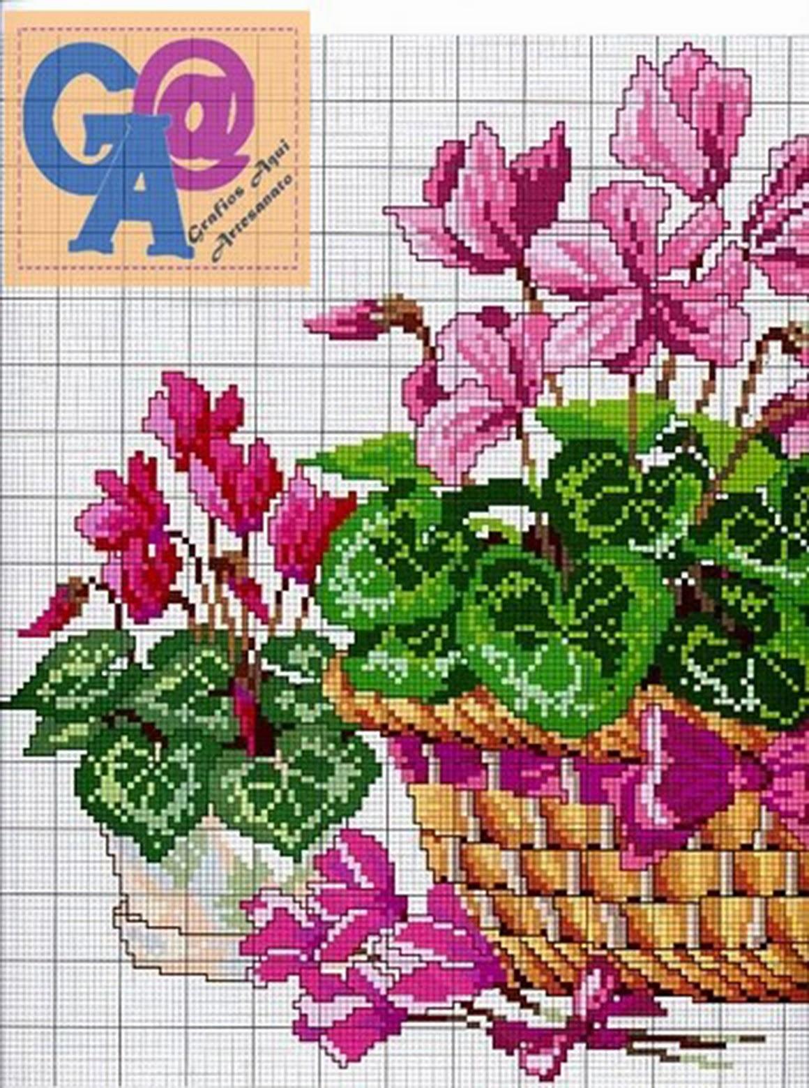 Схемы вышивки крестом бесплатно скачать Цветы, букеты 3