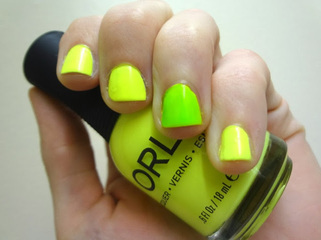 Neon nails, multi-colored, Orly Glowstick, Nail Polish