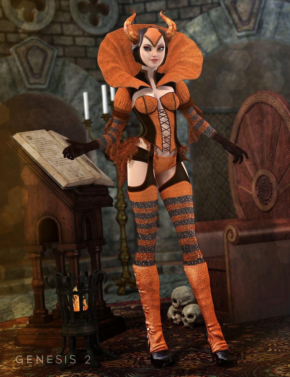 3d Models Art Zone - Witches' Brew for the Sinful Witch