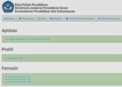 Download Aplikasi Dapodik 2013