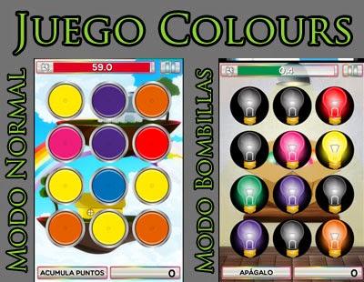 El juego Colours tiene dos modos de juego.