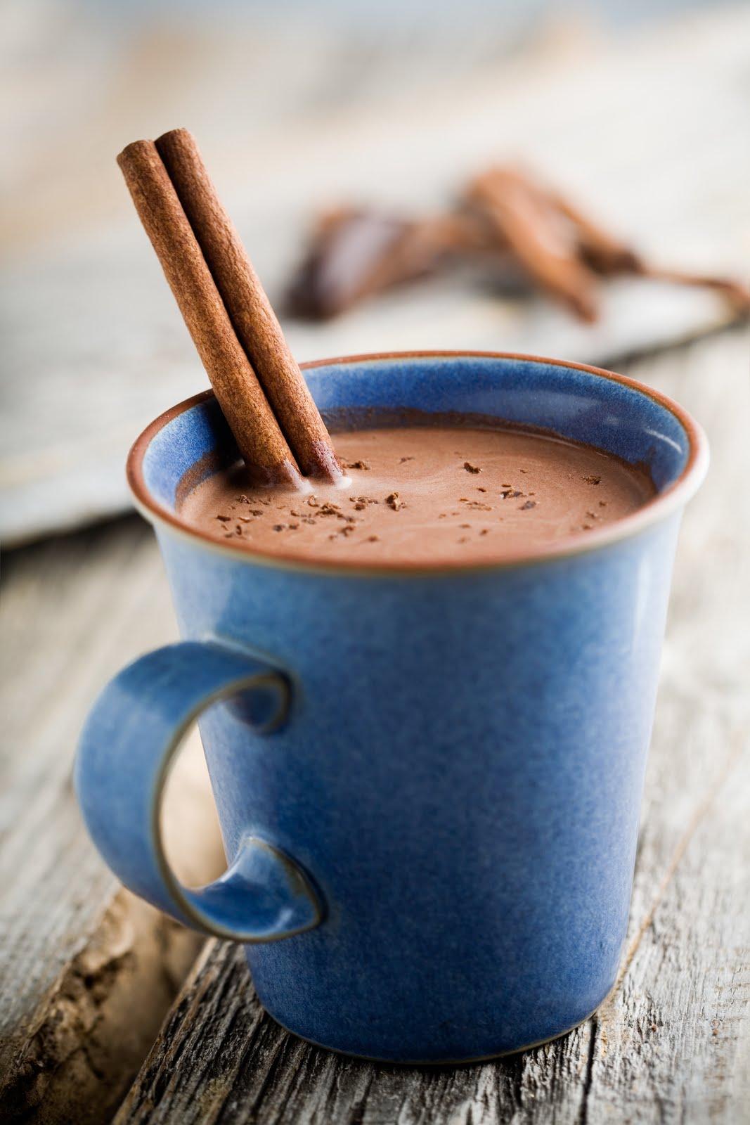caramel à la fleur de sel: Cinnamon Hot Chocolate