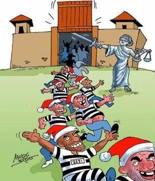 Resultado de imagem para indulto de Natal charges