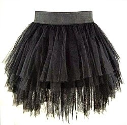 Black, Multi-Layered Tutu Skirt for 80s/Halloween dress-up