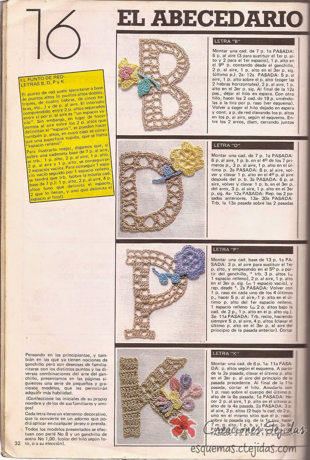 Letras a Crochet