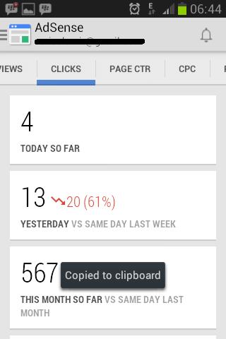 Cliks AdSense Mobile