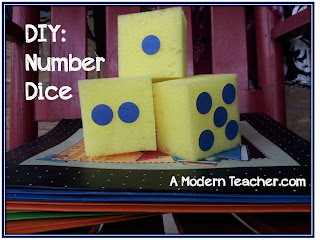 DIY Giant Dice from A Modern Teacher