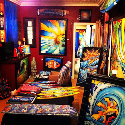 Drew Brophy surf lifestyle artist art studio